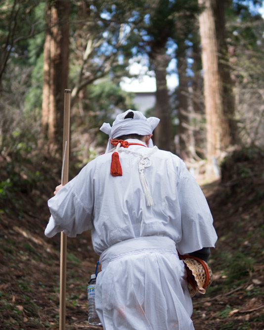 Yamabushi training on Mt. Kinbo near the Dewa Sanzan